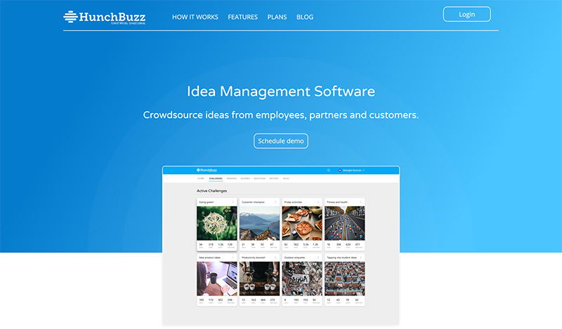 HunchBuzz website